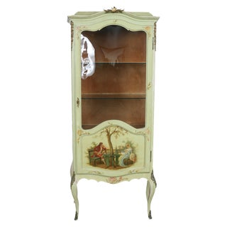 1920 French Style Hand Painted Cabinet