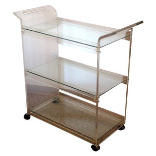 American Hustle Lucite Bar Cart