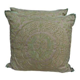 Pair of Orsini Patterned Fortuny Pillows