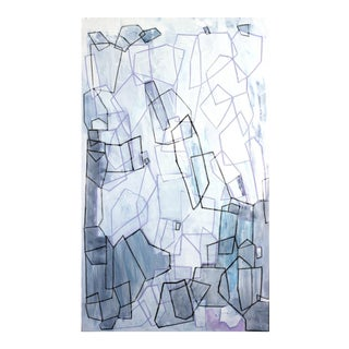 "Linda Colletta ""Crystal Rays"" Acrylic & Pastel Painting"