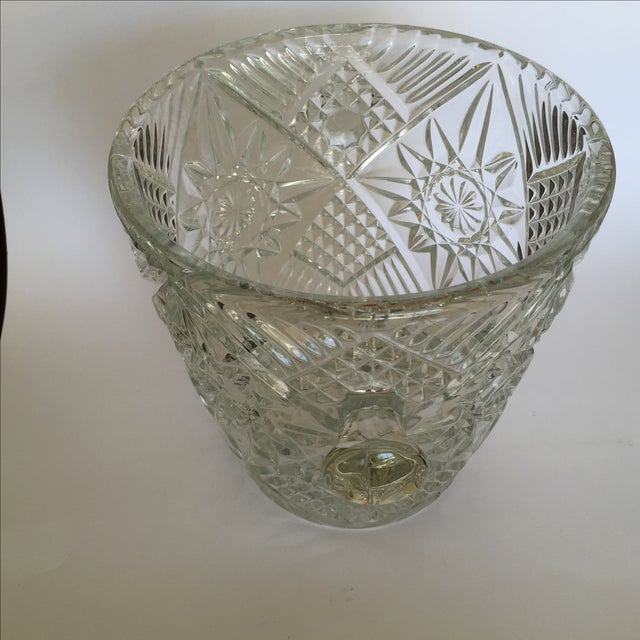 Cut Glass Crystal Ice Bucket - Image 6 of 8