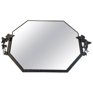 French Art Deco Floral Mirror