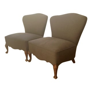 Vintage Slipper Chairs - A Pair
