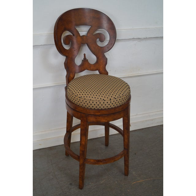 Biedermeier Style Swivel Bar Stools - A Pair - Image 9 of 10