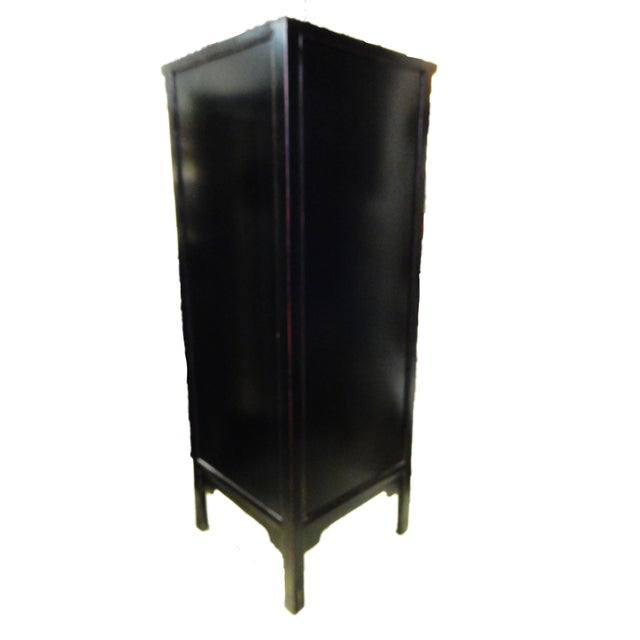 Black Lacquer Corner Armoire - Image 9 of 10