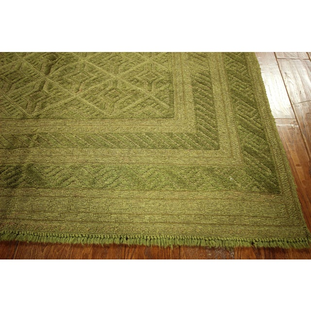 "Overdyed Green Handmade Rug - 4'10"" x 6' - Image 6 of 8"