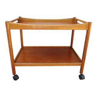1960s Teak Hans Wegner Bar Cart