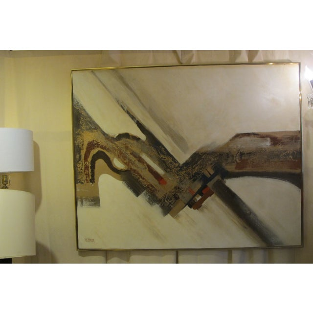 1970s Listed Artist Lee Reynolds Abstract Painting - Image 2 of 6