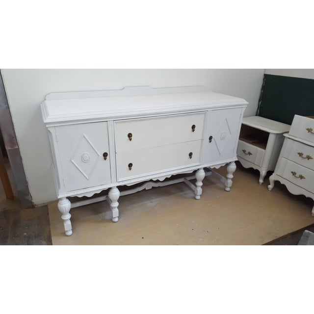 Antique White Lacquer Sideboard Buffet