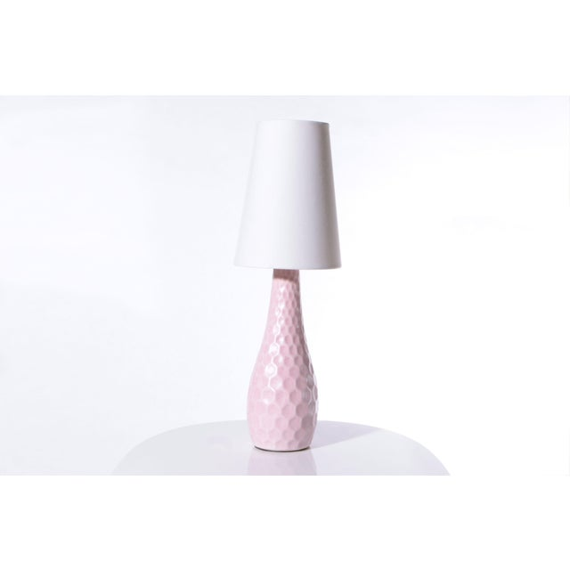 Pink Honeycomb Lamp - Pair - Image 3 of 4
