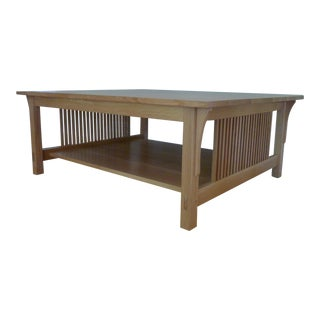Stickley Mission Oak Spindle Cocktail Table