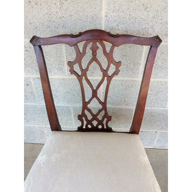 Vintage Baker Chippendale Style Ball & Claw Mahogany Dining Chairs - Set of 6 - Image 9 of 10