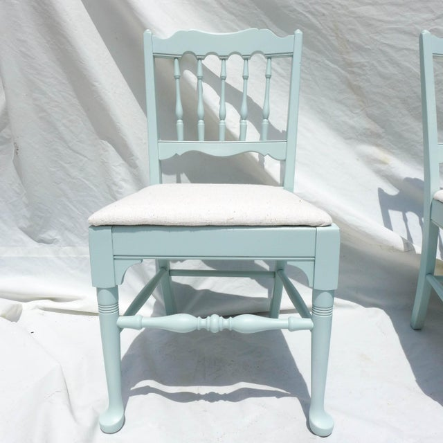 Cottage Mahogany Sea Breeze Chairs - Set of 6 - Image 7 of 8