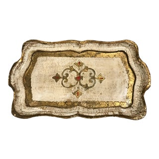 Vintage Rectangular Florentine Tray
