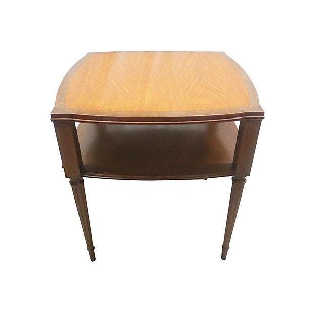 Inlaid Henredon Mahogany Side Tables - Pair - Image 3 of 8