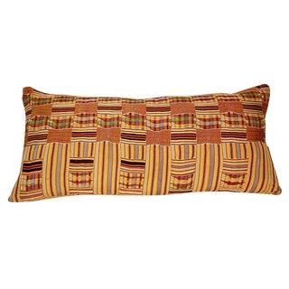 African Kente Tribal Textile Pillow