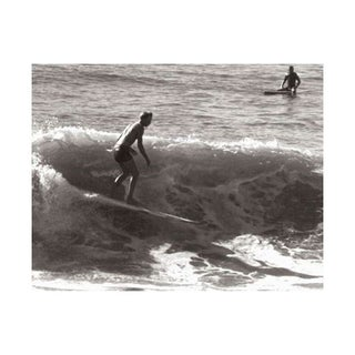 Black & White Vintage Surfer Photo VI