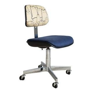 Vintage Chrome Office Chair - Restored Desk Chair