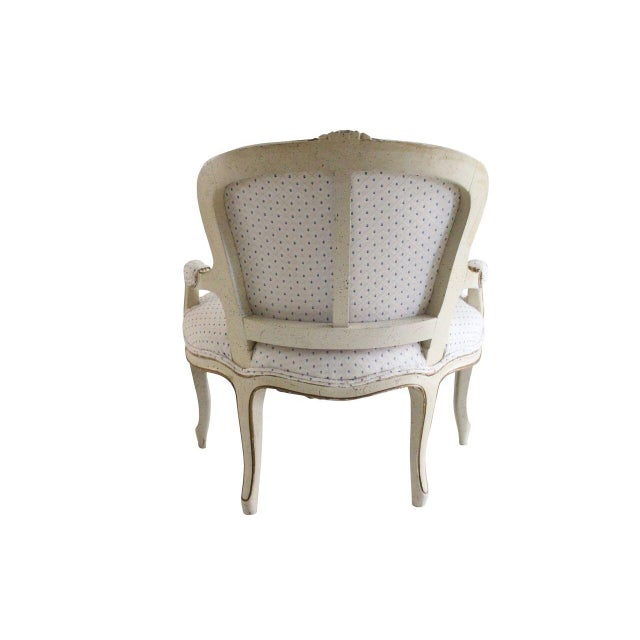Image of Off-White Louis XV Style Child's Armchairs - Pair