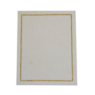 White & Hammered Gold Straight Cork Board