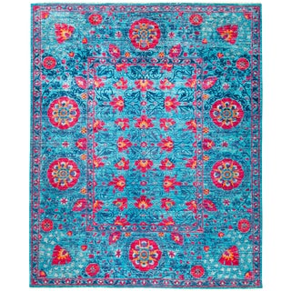 "Suzani Hand Knotted Area Rug - 8'1"" X 9'9"""