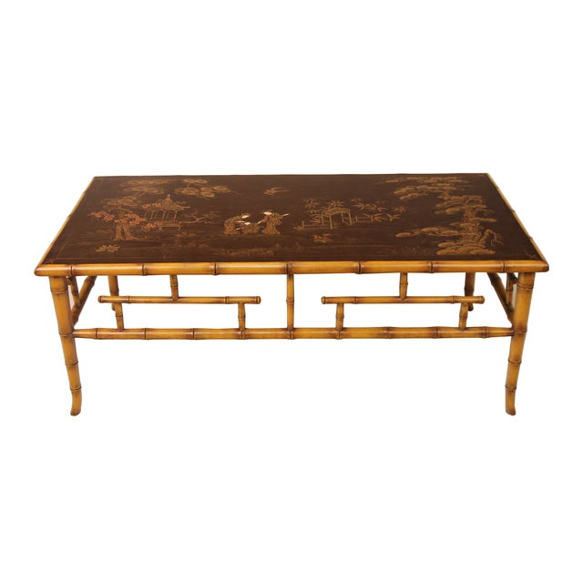Chinoiserie Bamboo Base Cocktail Table Chairish