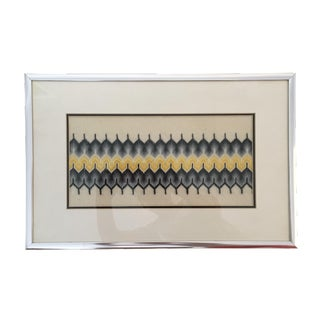 Mid-Century Modern Framed Embroidery