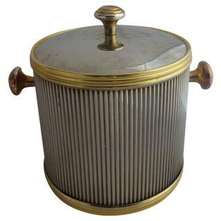 Vintage Brass & Chrome Ice Bucket