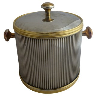 Vintage Brass & Chrome Ice Bucket