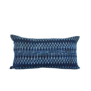 Hmong Indigo Lumbar Ziggy Pillow