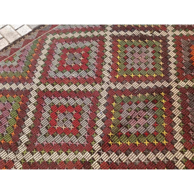 Vintage Turkish Kilim Rug - 6′9″ × 9′11″ - Image 5 of 6