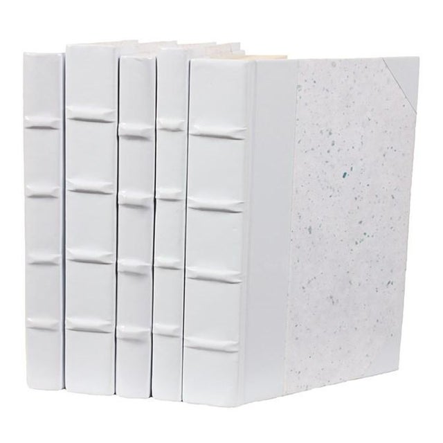 Image of White Patent Leather Books - Set of 5