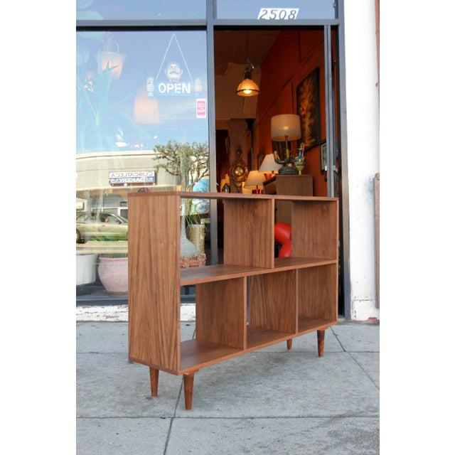 Modern Walnut Bookcase Shelf - Image 7 of 10