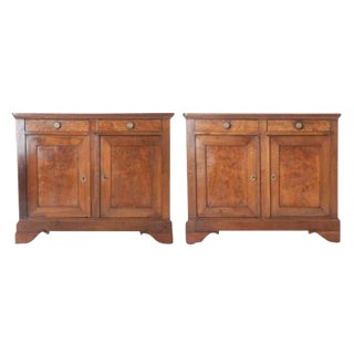 Pair of French 19th Century Walnut Louis Philippe Buffets