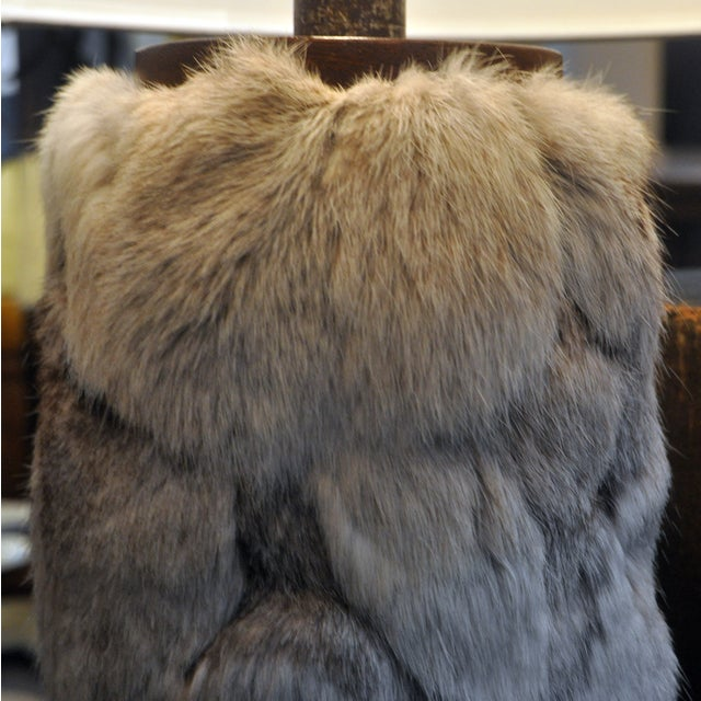 Image of Ted Harris Rabbit Fur Table Lamps - A Pair