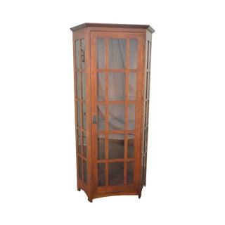 Stickley Mission Oak Corner Cabinet
