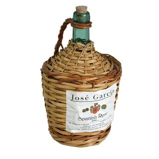 Vintage European Wicker Wine Demijohn