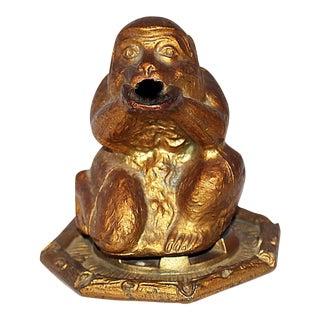 French Monkey Censer Figure