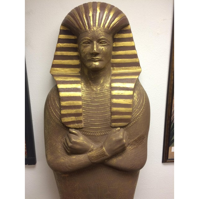 "6'3"" Cast Egyptian Sarcophagus - Image 4 of 5"