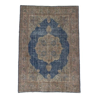 Large Vintage Unique Turkish Oushak Rug - 8′9″ × 12′6″