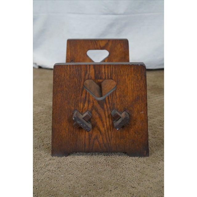 Image of Antique Mission Oak Book Rack