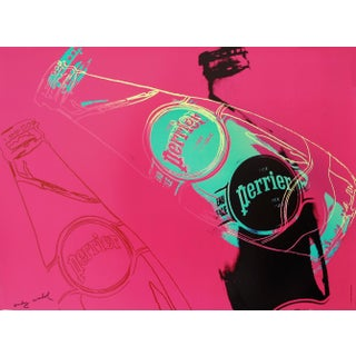 1983 Original Andy Warhol Poster, Pink Perrier Advertisement