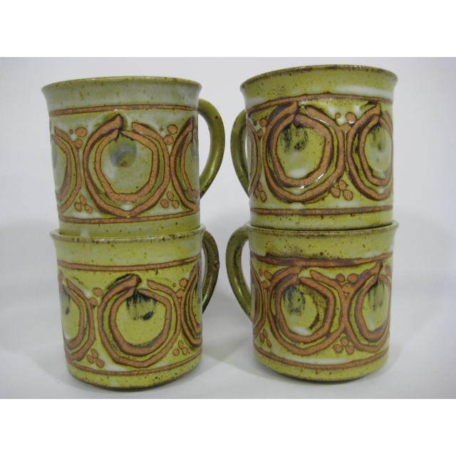 Vintage Stoneware Mugs - Set of 4 - Image 5 of 7