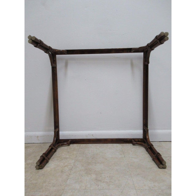 Vintage French Regency Faux Bamboo Metal Table Base - Image 6 of 6