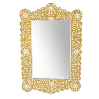 Hania Yellow Inlay Mirror