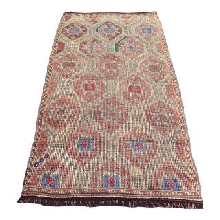 Vintage Turkish Handmade Rug- 3′7″ × 6′9″