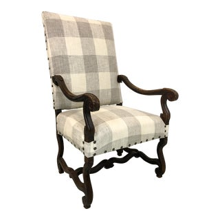 19th-C. English Oak Bergere Chair
