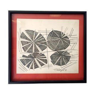 Raymond Toloczko Vintage Modern Ink Drawing