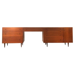 Danish Modern Teak Dressers & Floating Vanity