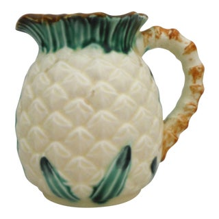 Vintage Majolica Pineapple Pitcher